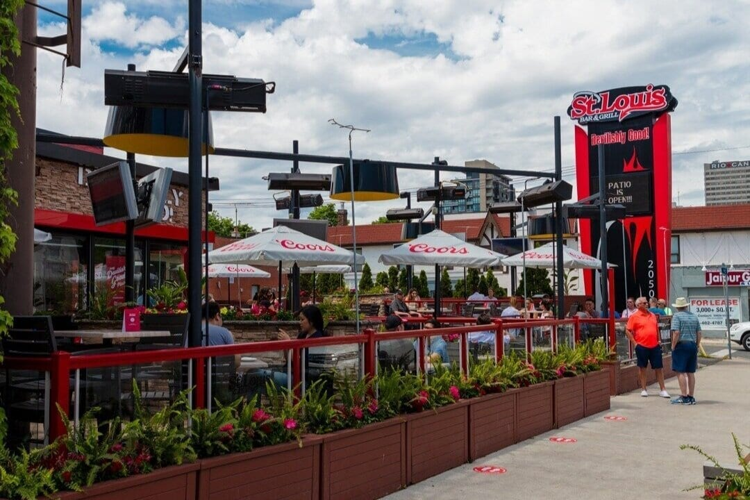 St Louis Bar and Grill Wings Toronto Patios Open Phase 2